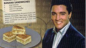 Elvis et son sandwich à la banane et au beurre de cacahuète