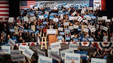 Des partisans de Bernie Sanders