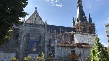 Liège: le chantier de la cathédrale Saint-Paul est à l'arrêt