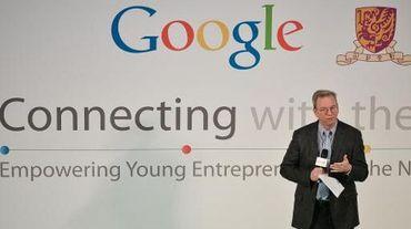 Le président exécutif de Google, Eric Schmidt, en visite à Hong Kong le 4 novembre 2013.