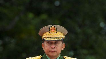 Le commandant en chef de l'armée birmane Min Aung Hlaing, à Yangoun, le 19 juillet 2018