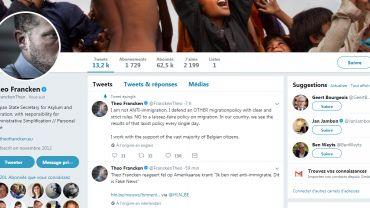 """Présenté comme un ministre anti-immigration par le Washington Post, Francken réplique: """"#fakenews"""""""
