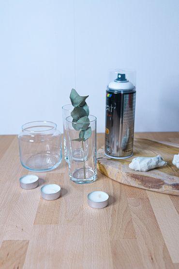 Fais-le: Photophores avec des vieux verres et bocaux