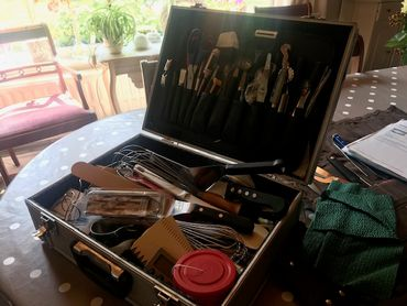 La valise qui renferme tous ses outils