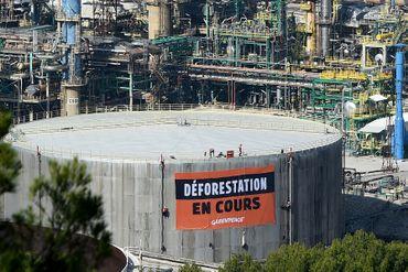Manifestation à La Mède (Bouches-du-Rhône)
