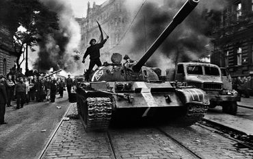 Warsaw Pact troops invasion,Prague, Czechoslovakia, August 1968