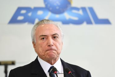 Michel Temer à Brasilia, le 12 mai