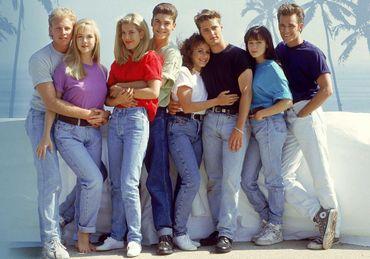 Les personnages de la série Beverly Hills 90210.