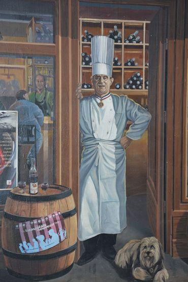"""Paul Bocuse dans la """"Fresque des Lyonnais"""""""