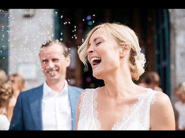 Lors de son mariage avec Vincent Langendries