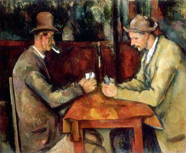 Les joueurs de cartes de Paul Cézanne, acheté 190 millions d'€ par le Qatar.