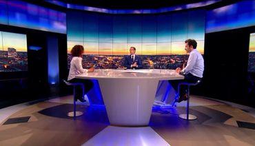 """Marius Gilbert et Leïla Belkhir sur le plateau de """"Questions en prime"""""""