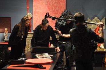 Exposition Les baisers:  Emilie Dujat, Jean-Marc Pelsemaeker et l'équipe de  C'est du Belge
