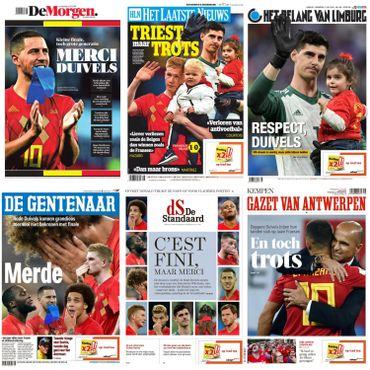 """""""Diable, c'était bien"""", """"le chagrin des Belges"""": la presse remercie les Diables Rouges"""