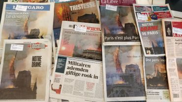 «Notre drame»: les Unes de la presse au lendemain de l'incendie de Notre-Dame de Paris