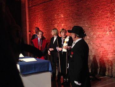 Angela Merkel honorée par la KUL et l'UGent.