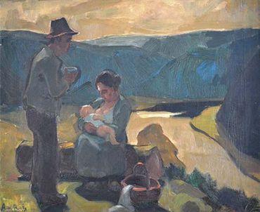 Albert Raty est l'un des artistes phares de l'Ecole de Vresse.