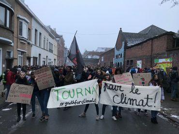 Climat: des étudiants réveillent Marie-Christine Marghem à Tournai