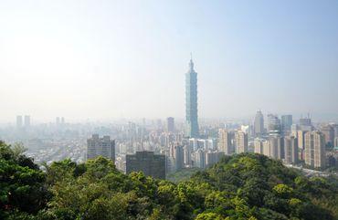 Vues de la mégapole de Taipei, en 2013