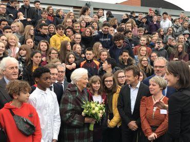 Pour beaucoup d'enfants, voir la Reine Paola est une première.