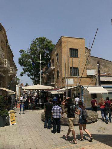 Le point de passage entre le Nord et le Sud de Nicosie, rue Ledra.