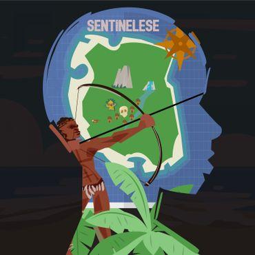 Vision d'artiste de l'île de North Sentinel