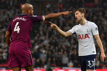 ManCity sort la tête de l'eau à Tottenham et se rapproche du titre, Kompany à l'assist
