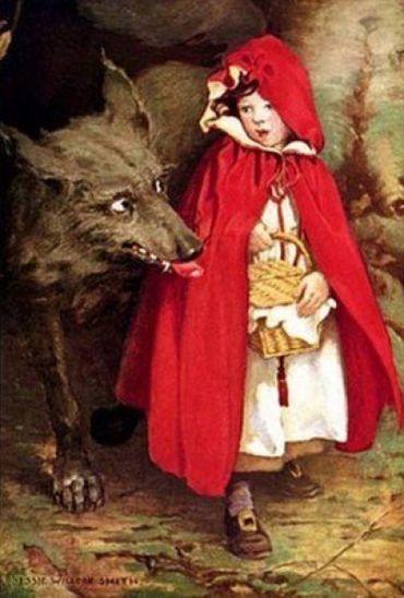 Le Petit Chaperon rouge, illustration de Jessie Willcox Smith, 1911