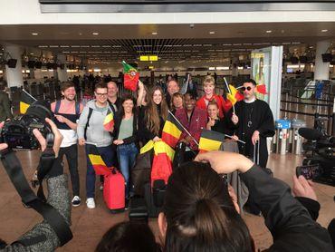 La délégation belge en partance pour Lisbonne !