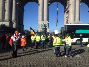 Manifestation des sidérurgistes ce lundi à Bruxelles: plusieurs tunnels fermés