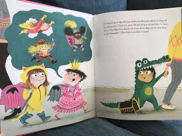 """""""Princesse Kevin"""" ou l'histoire d'un petit garçon qui a choisi un déguisement de princesse et qui ne voit pas pourquoi les filles pourraient varier et pas les garçons - éditions p'tit Glénat"""