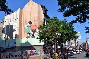 Quick et Flupke – rue des Capucins coin rue Haute