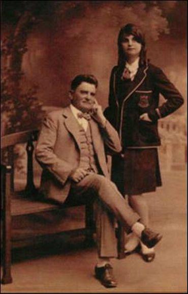 Ernest Malivel et sa fille, après la guerre