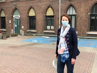 Marie-Anne Nyssen, notre guide, a travaillé dans le bâtiment pendant 42 ans.