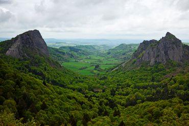 L'Auvergne en France.