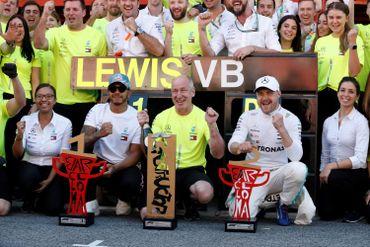 Lewis Hamilton et Valtteri Bottas