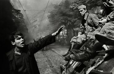 Warsaw Pact troops invasion, Prague, Czechoslovakia, August 1968