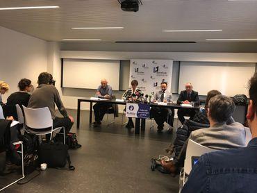 Conférence de presse ce mercredi à la police judiciaire fédérale du Limbourg.