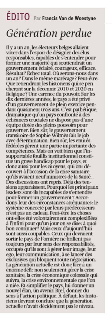"""Revue de presse: """"Nous méritons mieux de la politique"""""""