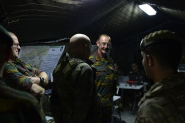 Le général Deconcinck lors d'une visite de presse à Saragosse, en Espagne, en 2015