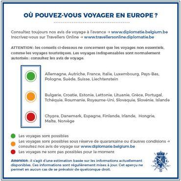 Réouverture des frontières: quels sont les pays qui n'acceptent pas (encore) les Belges?
