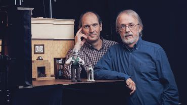 David Sproxton et Peter Lord, fondateurs des studios Aardman Animation