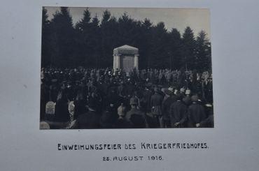 Inauguration du cimetière allemand de Gozee en 1916