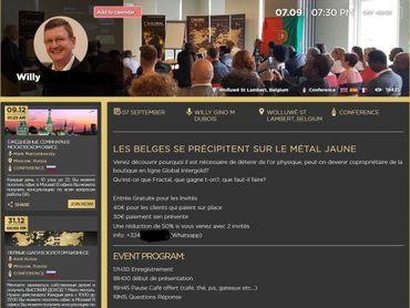 Les prix d'entrée aux conférences parfois pratiqués par le leader belge de Global Intergold