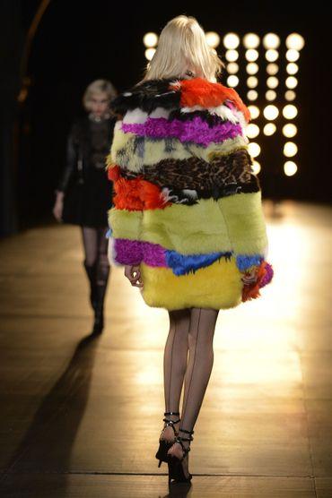 Le patchwork selon la maison Saint Laurent - Collection prêt-à-porter automne-hiver 2015-2016