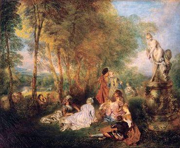 Antoine Watteau - Les plaisirs de l'amour