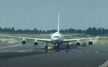 L'avion de Vladimir Poutine est arrivé à Helsinki avec 1/2h de retard.