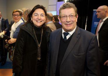 M.C. Marghem et G. Deprez lors d'une réception du MR à Bierges, en 2019