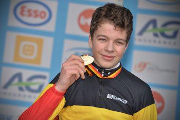 Le jeune Florian Vermeersch, Champion de Belgique de cyclocross en 2015