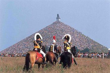 La reconstitution historique de la Bataille chaque année en juin.